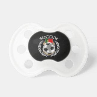 Engranaje de la fan del fútbol 2016 de Portugal Chupete De Bebe