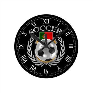 Engranaje de la fan del fútbol 2016 de Portugal Reloj Redondo Mediano