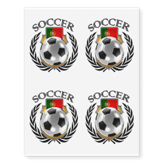 Engranaje de la fan del fútbol 2016 de Portugal Tatuajes Temporales