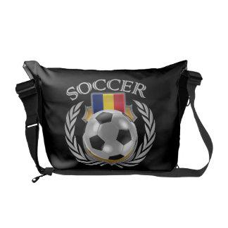 Engranaje de la fan del fútbol 2016 de Rumania Bolsa De Mensajeria