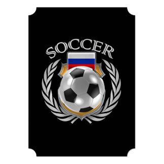 """Engranaje de la fan del fútbol 2016 de Rusia Invitación 5"""" X 7"""""""