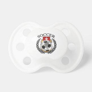 Engranaje de la fan del fútbol 2016 de Suiza Chupete De Bebé