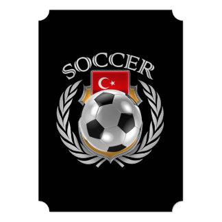 """Engranaje de la fan del fútbol 2016 de Turquía Invitación 5"""" X 7"""""""