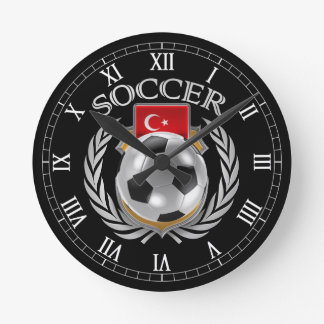 Engranaje de la fan del fútbol 2016 de Turquía Reloj Redondo Mediano