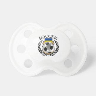 Engranaje de la fan del fútbol 2016 de Ucrania Chupetes De Bebe