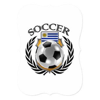 """Engranaje de la fan del fútbol 2016 de Uruguay Invitación 5"""" X 7"""""""