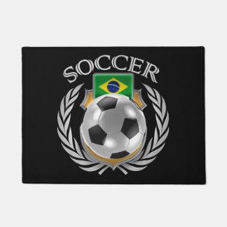 Engranaje de la fan del fútbol 2016 del Brasil Felpudo