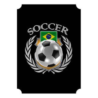 """Engranaje de la fan del fútbol 2016 del Brasil Invitación 5"""" X 7"""""""