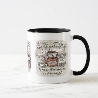 Engranaje de la fiesta del té del día del impuesto