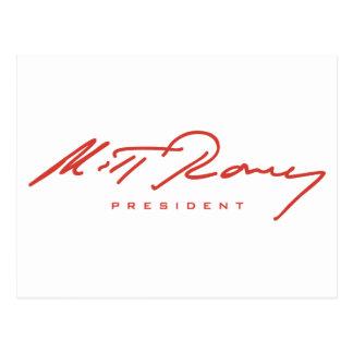 Engranaje de la firma de Romney Tarjeta Postal