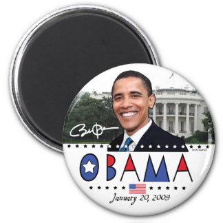 Engranaje de la inauguración 2009 de Obama Imán Redondo 5 Cm
