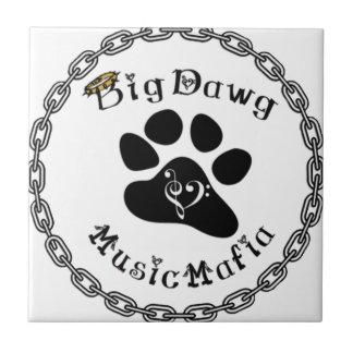 Engranaje de la mafia de la música de BigDawg Azulejo Cuadrado Pequeño