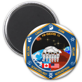 Engranaje de la misión III de HI-SEAS Imán Redondo 5 Cm