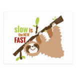 Engranaje de la pereza - lento es el nuevo rápido tarjeta postal