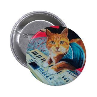 Engranaje de la pintura del gato del teclado pin redondo de 2 pulgadas