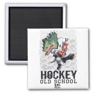 Engranaje de la raya vertical del hockey del dinos imán cuadrado