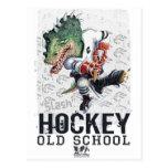 Engranaje de la raya vertical del hockey del dinos postal