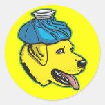 Engranaje de la resaca de Labrador Pegatina Redonda