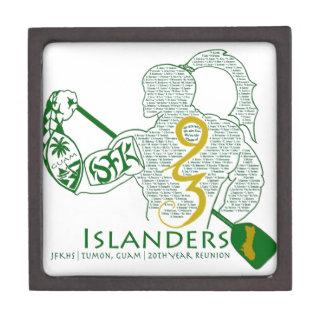 Engranaje de la reunión de los isleños 93 de JFK Caja De Regalo De Calidad