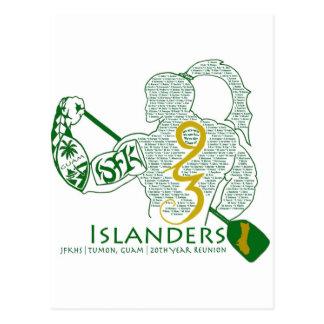 Engranaje de la reunión de los isleños 93 de JFK Tarjetas Postales