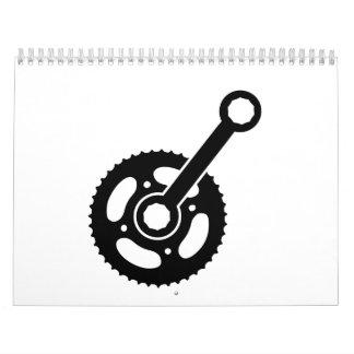 Engranaje de la rueda de la bici calendario