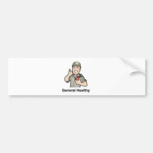 Engranaje de la salud general etiqueta de parachoque