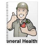 Engranaje de la salud general libreta espiral