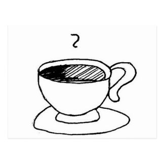 Engranaje de la taza de café del dibujo animado postales