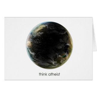 Engranaje de la tierra del planeta felicitación
