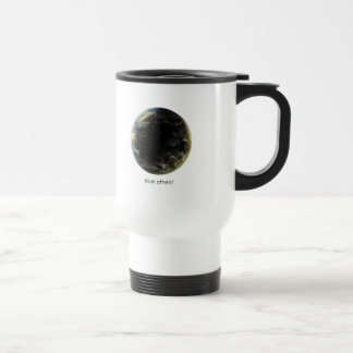 Engranaje de la tierra del planeta taza de café