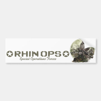 Engranaje de las fuerzas de operaciones especiales etiqueta de parachoque