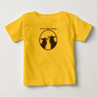 Engranaje de las ovejas negras en sepia playera para bebé