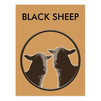 Engranaje de las ovejas negras en sepia tarjetas postales