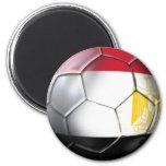 Engranaje de los aficionados al fútbol de Egipto P Imán Redondo 5 Cm