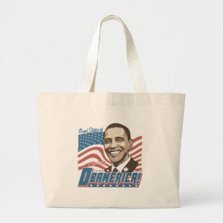 Engranaje de Obamerica Barack Obama Bolsa De Tela Grande