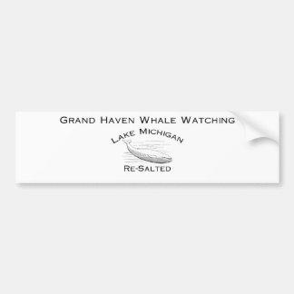Engranaje de observación de la ballena magnífica pegatina para auto