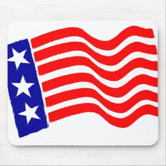 Engranaje de ordenador patriótico de la bandera alfombrillas de ratón