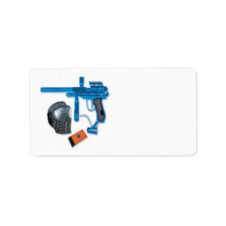 Engranaje de Paintball Etiquetas De Dirección