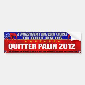Engranaje de Palin 2012 del Quitter - engranaje an Pegatina Para Auto