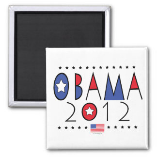 Engranaje de presidente Barack Obama 2012 Imán Cuadrado