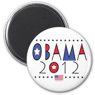 Engranaje de presidente Barack Obama 2012 Imán Redondo 5 Cm