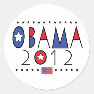 Engranaje de presidente Barack Obama 2012 Etiquetas Redondas