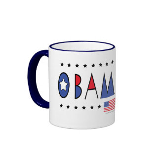 Engranaje de presidente Barack Obama 2012 Taza De Dos Colores