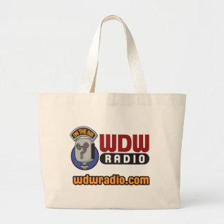 Engranaje de radio del logotipo de WDW Bolsa Tela Grande