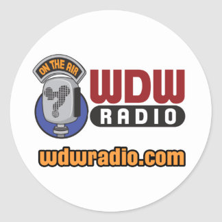 Engranaje de radio del logotipo de WDW Pegatina Redonda