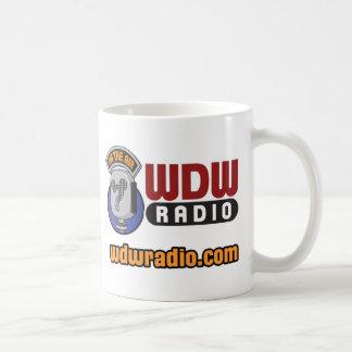 Engranaje de radio del logotipo de WDW Taza Básica Blanca