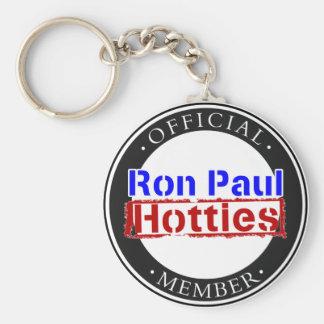 Engranaje de Ron Paul Hotties Llavero Redondo Tipo Pin