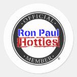 Engranaje de Ron Paul Hotties Pegatina Redonda