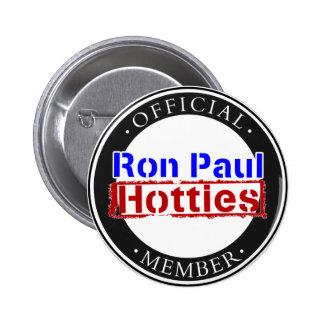Engranaje de Ron Paul Hotties Pin Redondo De 2 Pulgadas