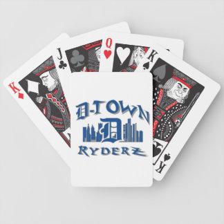 engranaje de RyderZ de la D-ciudad Baraja Cartas De Poker